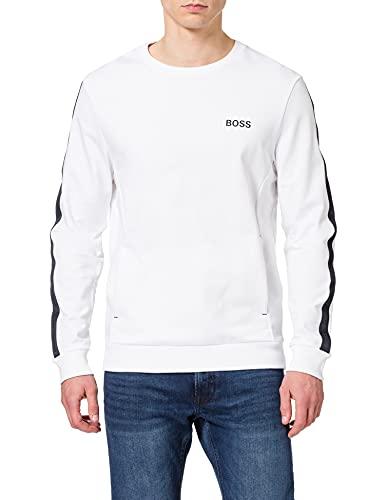BOSS Hommes Heritage Sweatshirt Sweat d'intérieur en Molleton de Coton avec Bandes à Logo