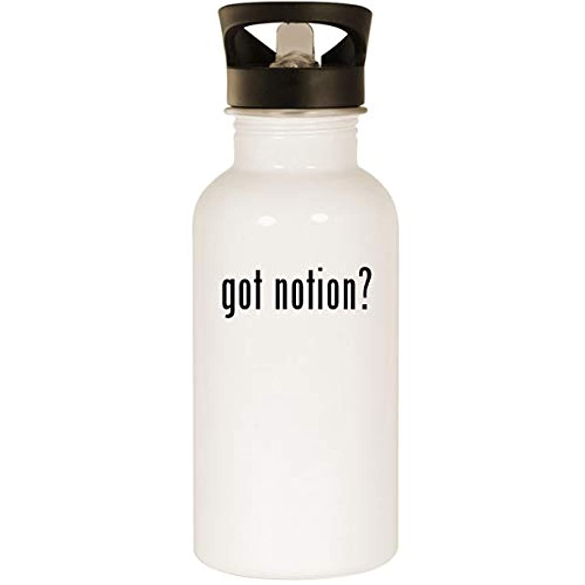 got notion? - Stainless Steel 20oz Road Ready Water Bottle, White