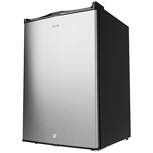 hOmelabs Upright Freezer - 3.0 Cubic Feet Compact Reversible Single Door Vertical Freezer with Adjustable Thermostat and Child Door Lock - Table Top Mini Freezing Machine for Office Dorm or Apartment