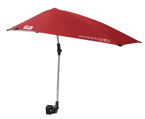 Sport-Brella Versa-Brella 4-Way Swiveling Sun Umbrella (Firebrick Red, Regular