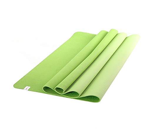 Colchonetas de yoga Ecológico TPE antideslizante Yoga Mat Pad Ejercicio espesada 10 mm, apto for todos los tipos de yoga, ejercicios de Pilates Anx'cd piso se abrieron y alargada espesado 185cm x 122c