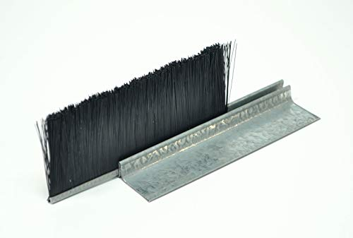 Versa-Brush Weatherguard Kit. 2 Pieces of Brush, 2 Pieces of F-Channel, 7 feet Long. 1-1/2