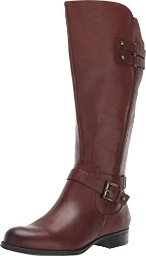 Naturalizer Womens Jackie Wide Calf Chocolate Leather 7.5 M (B)