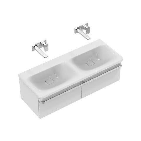 Ideal Standard Tonic II meubel dubbele wastafel, zonder HL, 1215mm K0871, Kleur: Wit met Ideal Plus - K0871MA