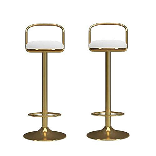 Barkruk Bar Krukken Set van 2, Moderne verstelbare keuken eiland stoelen tellerhoogte barkrukken Swivel fluwelen stoel, met rugleuning grote basis en stoel hoogte verstelbaar barstoelen