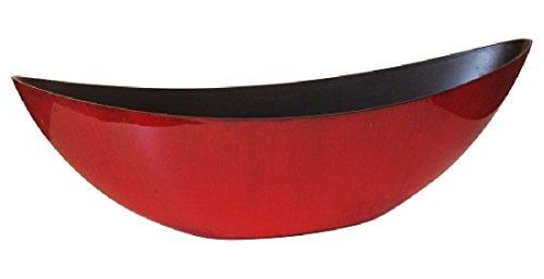 Schreiber Deko Dekoschale Kunststoff/Rot-Schwarz lackiert / 55x13x17cm