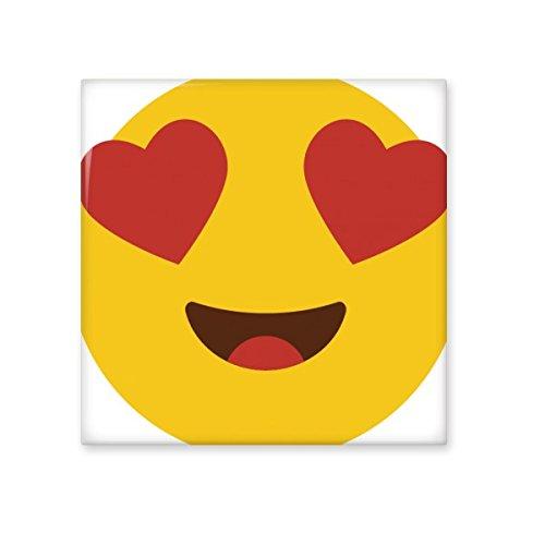 Bons prix dernière remise meilleur service DIYthinker Adore Fever Love Illustration Jaune Mignon Chat en Ligne Belle  Emoji modèle en céramique Bisque Carreaux pour décorer Salle de Bains Décor  ...