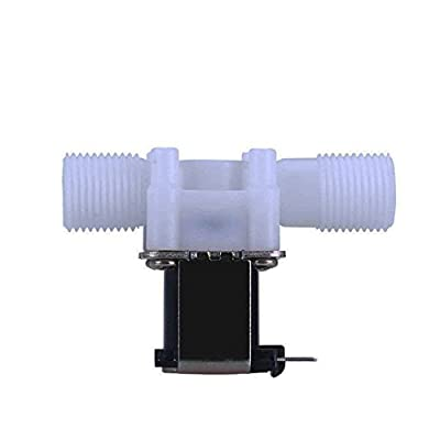 """12V Electric Solenoid Valve Magnetic DC N/C Water Air Inlet Flow Switch 1/2"""" from Preamer"""