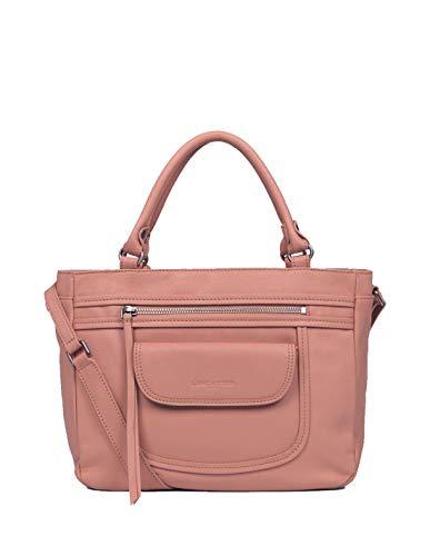 Lancster 46436 - Bolso de mano de piel, 28 x 23 x 11 cm, color rosa envejecido