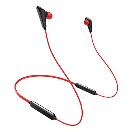 Blesiya Auriculares Deportivos para Correr con Bluetooth Auriculares con Banda para el Cuello con Auriculares HD Mic 68horas Tiempo de conversación - Rojo