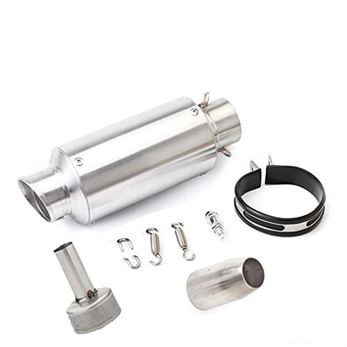 Tubo de silenciador de Escape Modificado de Escape de Motocicleta de 51mm para FZ6 para CBR250 para CB600 para MT07 (Color : 240mm 1)