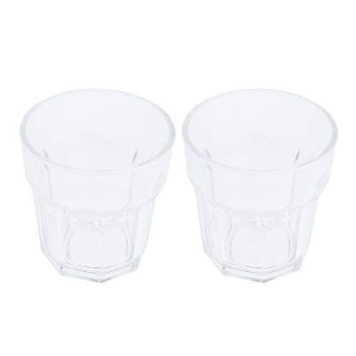 H HILABEE 2 Stü 150 Ml Wasser Tasse Becher Acrylglas Becher Kaffee/Tee/Bier/Saft Unzerbrechlich