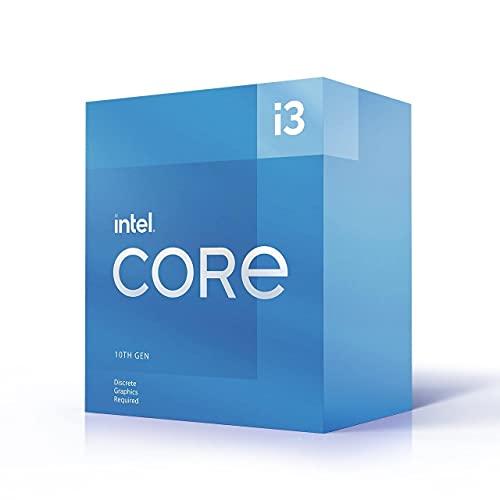 Intel Core i3-10105F - Processore desktop da 10 a generazione (clock di base: 3.7 GHz Tuboost: 4.4 GHz, 4 core, LGA1200) BX8070110105F