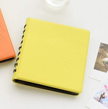 CPBH 富士フイルムインスタントカメラ・チェキミニフィルム用68Pocketsミニインスタントポラロイドフォトアルバムの写真のケースは、8 25 50代90インスタントカメラ・チェキミニポラロイドアルバムを7S (色 : Yellow)