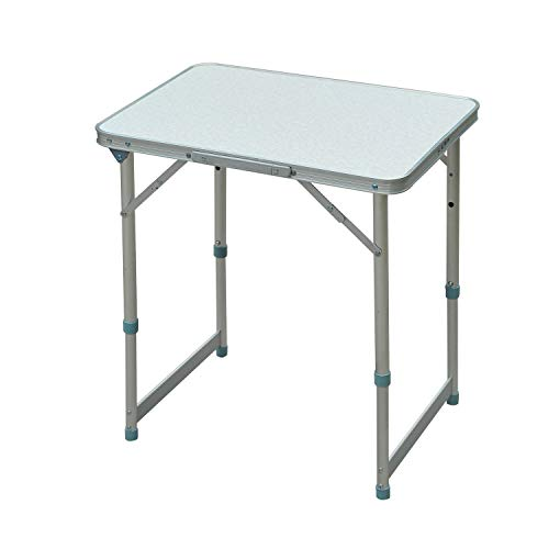 """Outsunny 23"""" Aluminum Lightweight Portable Folding Easy Clean Camping Table with Carrying Handle"""