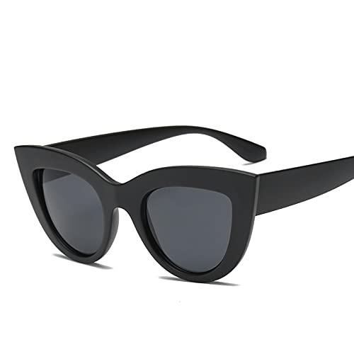 KFYOUXIN Gafas de sol para mujer de ojo de gato y gafas de sol para gafas de sol con espejo azul