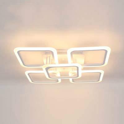 Lámpara colgante led moderna, aplicación de teléfono inteligente con lámpara acrílica de control remoto, utilizada para sala de estar, dormitorio, estudio, lámpara colgante para el hogar, 4 y 1, regul