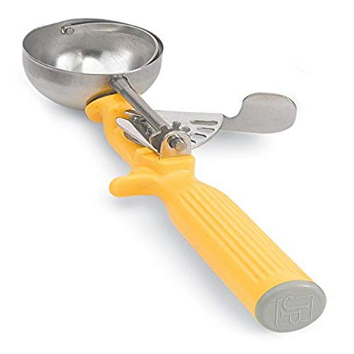 Vollrath 1-5/8 oz Stainless Steel Disher - Size 20,Yellow