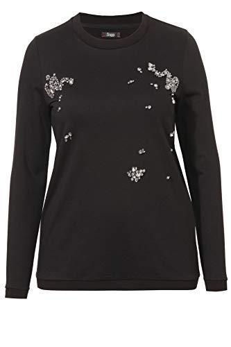 Frapp Feminines Sweatshirt mit Kristall-Steinchen