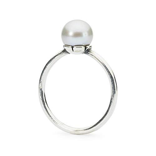 Trollbeads Silber Grauer Perlen Ring, Gr. 51