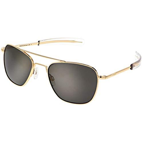Randolph Gold klassische Piloten-Sonnenbrille für Herren oder Damen, 100% UV
