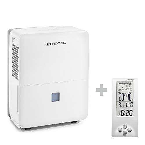 TROTEC Deshumidificador eléctrico TTK 96 E /30L /Desagüe 3L /Portátil/para Habitaciones de hasta 90m² / 230m³ / 720 W Incluido el BZ06