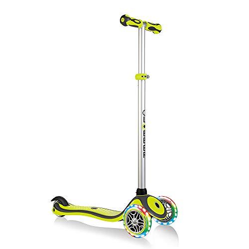 Globber Kids 'Primo Plus Light Up Räder Scooter, Lime grün