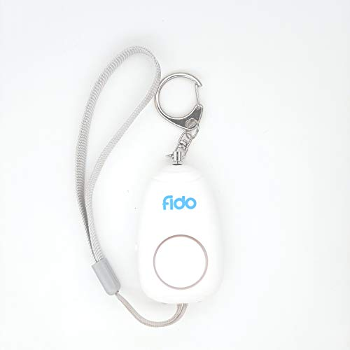 ONEGEARPRO FIDO Alarm Blanco Recargable Alarma Sonora Personal antipánico/agresión, pequeño y Potente Dispositivo antipánico para activar rápidamente 130 dB