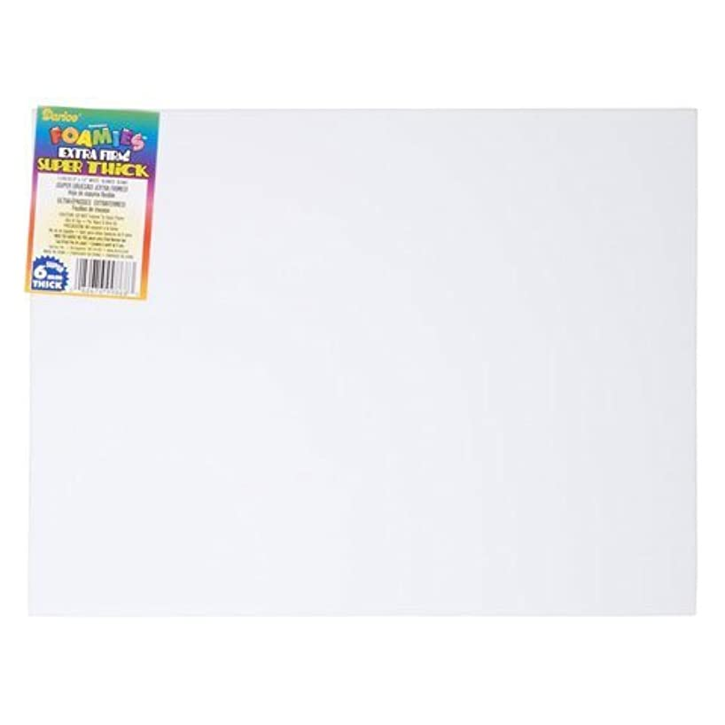 Darice Bulk Buy DIY Foamies Extra Thick Foam Sheet White 6mm Thick 9 x 12 inches (10-Pack) 1199-20 kpvzxujixw