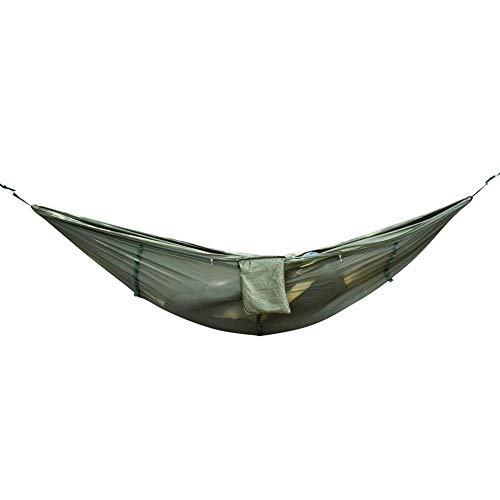 KEKEK Portable Size Lightweight High Strength Mosquito Net Parachute Hammock Hanging Bed for Outdoor Camping Hunting-Sky Blue_Spain