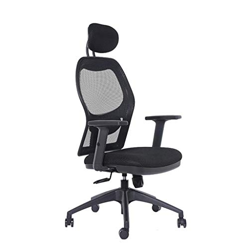 Ergonomic Office Chair High Back Mesh Desk Chair with Arm Rests Computer Chair Height Adjustable and Head Support (Color : B)