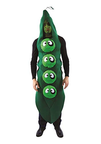 ORION COSTUMES Déguisement Adulte Costume Unisexe Black Eyed Peas Petit Pois Yeux Beurre Noir