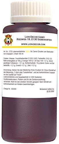 Lebensmitteltinte 100ml Yellow Gelb für Canon Drucker Patronen
