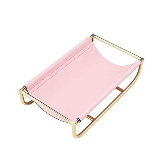 Calayu Leder Tablett im nordischen Stil, Schmucktablett Telefonschlüssel Brieftasche Münzablage Desktop Organizer Kosmetischer Organizer Tablett