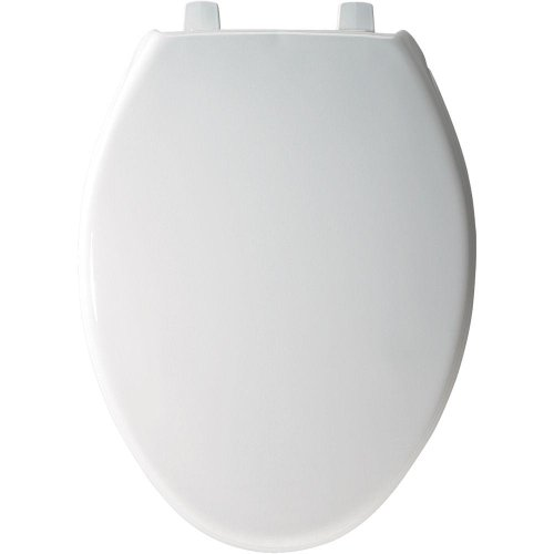 BEMIS 7800TDG 000 Commercial Heavy Duty Closed Front Toilet Seat with Cover that will Never Loosen & Reduce Call-backs, ELONGATED, Plastic, White