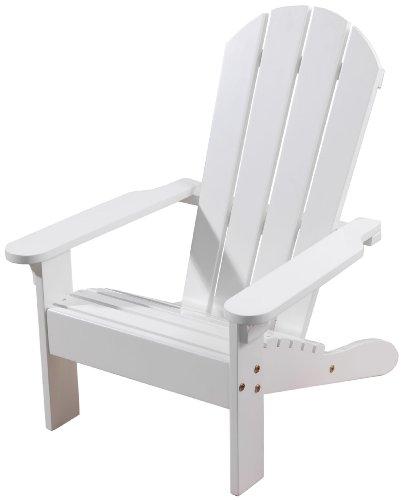 KidKraft Wooden Adirondack Children's Outdoor Chair, Weather-Resistant - White