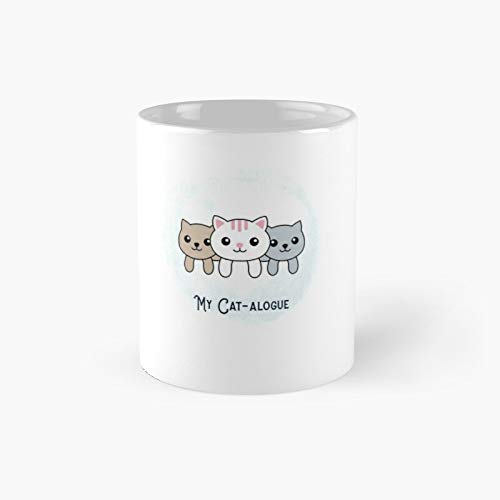 My Cat-alogue Funny Cat Design Classic Mug - Gift The Office...
