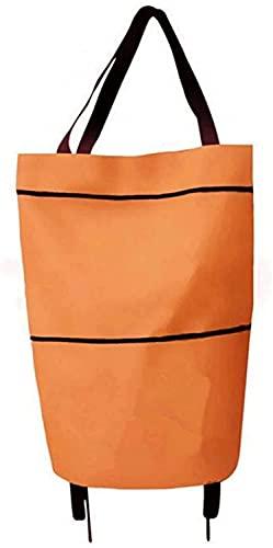 Bolso de compra de carrito de compras con ruedas Carrito de compras plegable Bolsos de compras reutilizables bolsas de comestibles bolsas de compras Bolso de la carretilla para compras Carrito de la e
