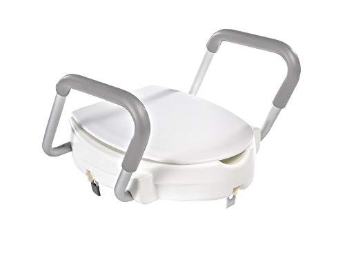 RIDDER WC-Erhöhung mit Griffen und Deckel weiß