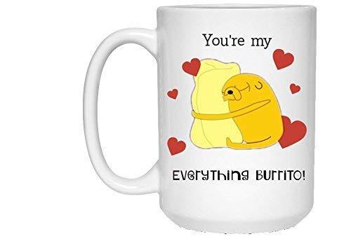 Eres mi burrito todo, Hora de aventura jake el perro taza de café apta para lavavajillas, Agrega tu propio texto para personalizar, Gran regalo, 11 oz, Regalo