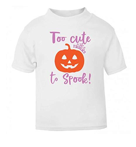 Flox Creative T-Shirt pour bébé Too Cute to Spook - Blanc - 6-12 Mois