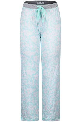 SofiePJ Women's Printed Long Sleepwear Lounge Pajama Pants Silky Soft Pajama Pants Drawstr Comfy Relaxed Floral Polka Dot Leopard Tie-Dye Geometry Prints Lounging Home Traveling Holiday Light Blue XL