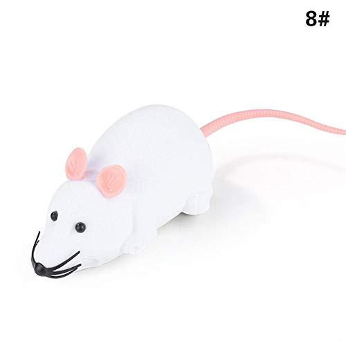 ETbotu hond speelgoed, kat speelgoed, huisdier speelgoed - Draadloze elektronische simuleren muis speelgoed met afstandsbediening voor kat puppy, Wit Roze