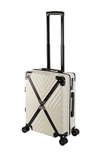Travelhouse Miami X Cross Zip Light T6077 - Trolley rigido da viaggio, in policarbonato, disponibile in diverse misure e colori, Whitepearl Weiß (Bianco) - Miami X Cross ZIP T6077