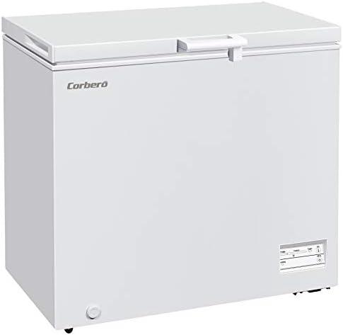 Corberó E-CCHH9200W Arcón Congelador Horizontal Dual System, Capacidad 198 Litros, Dimen. 90,5 x 54,5 x 84,5, Led, Tirador, Control Electrónico, Display, 1 Cesta incorporada, Eficiencia Energética F