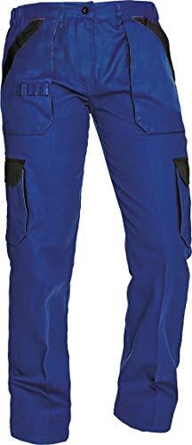 DINOZAVR MAX Pantalones de Trabajo Estilo Cargo para Mujer de Algodón - Azul/Negro 34