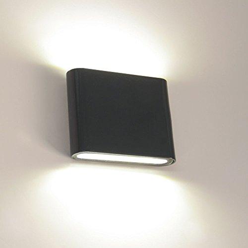 s.LUCE Plain flache LED-Aussen-Wandleuchte Up&Down 6W Anthrazit Wandlampe Aussen