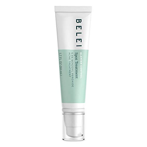 Belei Blemish Control Spot Treatment, 5.5% Benzoyl Peroxide Acne Treatment, Dermatologist Tested, 1.7 Ounces (50 mL)