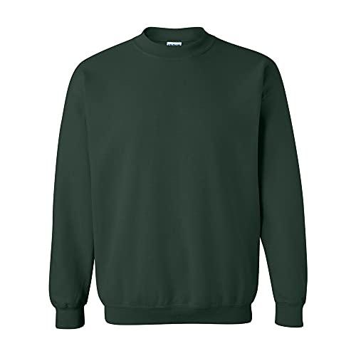Gildan- Sudadera de Cuello Redondo Unisex con Mezcla de Tejidos (M) (Verde Bosque)