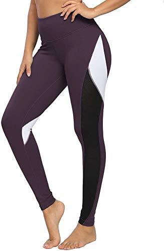Alessioy Yoga De Mujer Polainas Paso Novena De Pantalones Color Los De Vida de la Moda Bloqueo De 25 Pulgadas con Malla Polainas Entrenamiento Mallas para Correr (Color : Dunkellila, One Size : L)